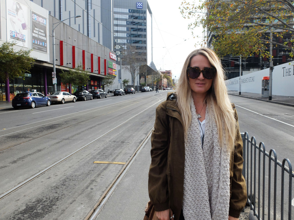 Catching the tram